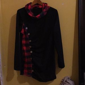 Black and red checkered dress/shirt